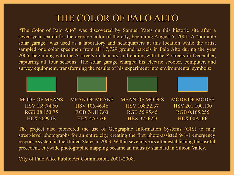Samuel Yates The Color of Palo Alto